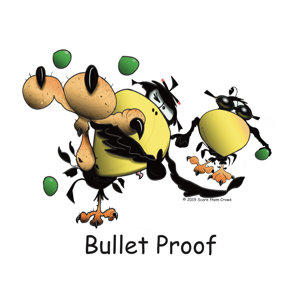 Kung Fu Kicking Crow is bullet proof