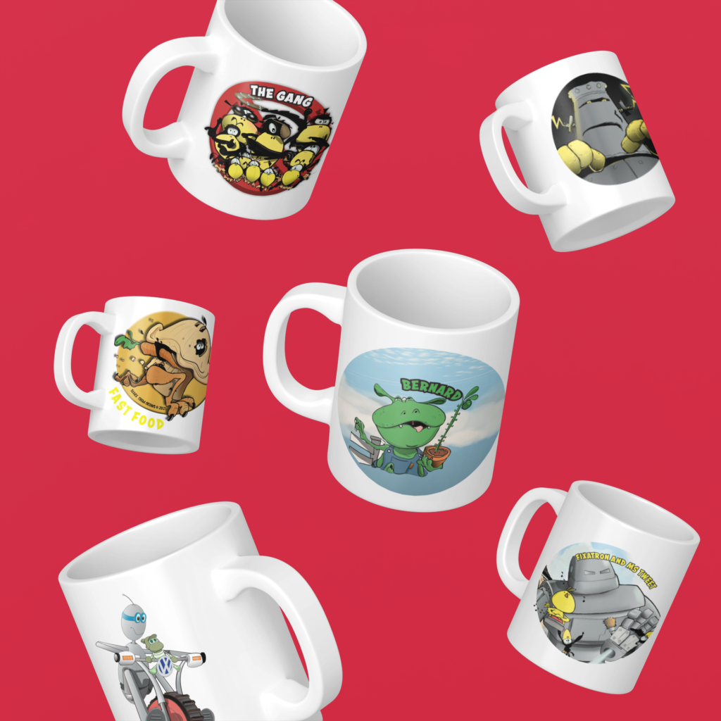 Ted & Oscar mugs